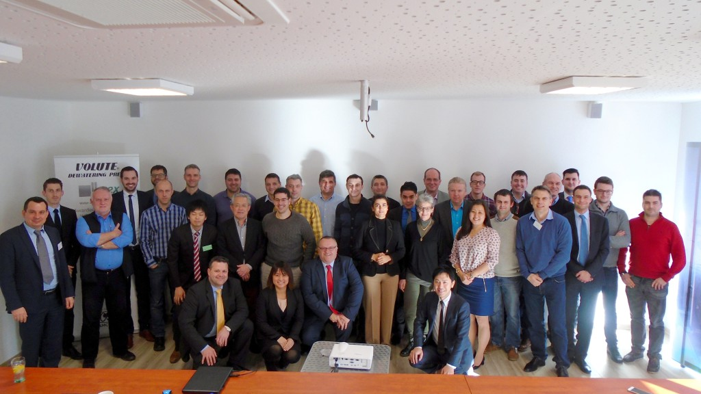AMCON Europe Inaugural Annual Conference attendees, Volute Dewatering Press