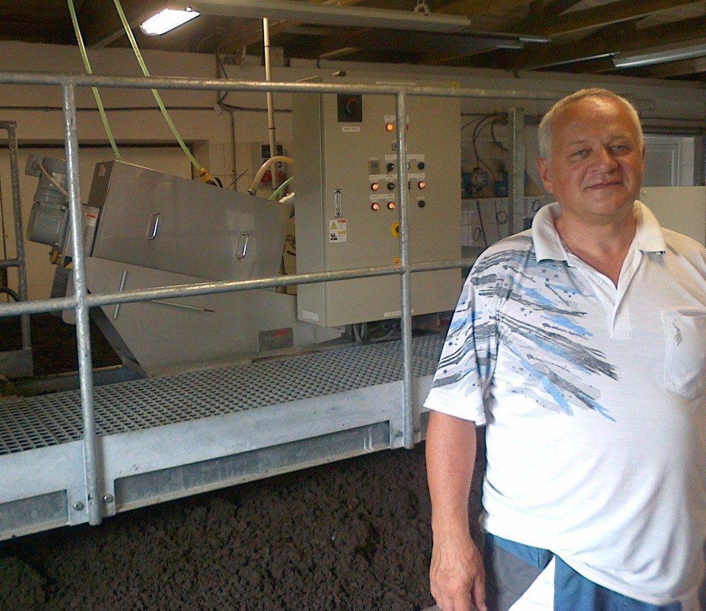Volute instalace VOLUTE odvodňovacího lisu