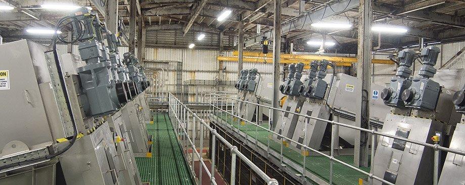 Industrial sludge dewatering