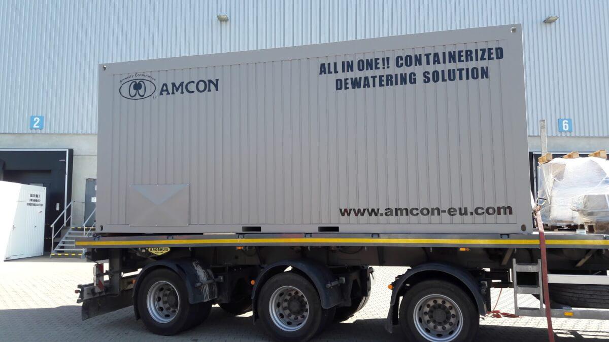 Kontejnerizované řešení odvodňování Amcon