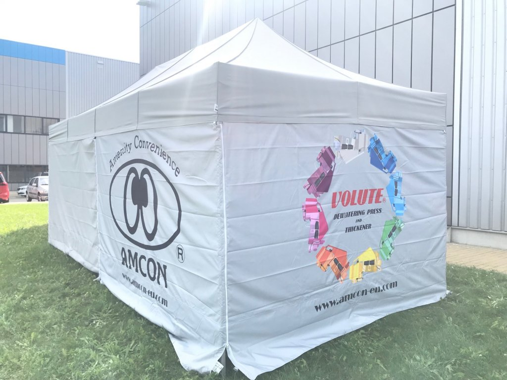 AMCON tent for site pilot tests
