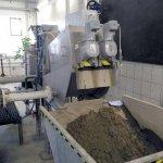 VOLUTE dewatering press dewatering sludge from chemical precipitation